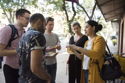 Group on a food tour of Mexico City